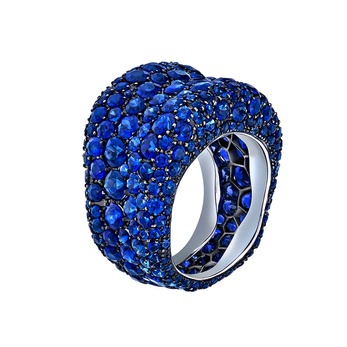 Emotion ring with sapphires