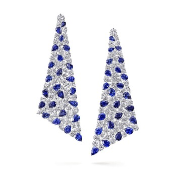 Earrings with sapphires and diamonds