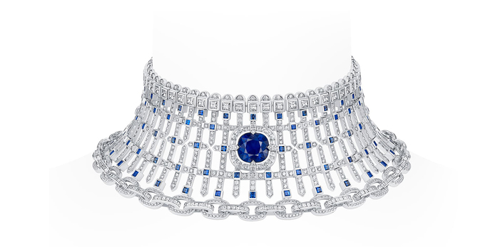 Le Royaume necklace with sapphires and diamonds