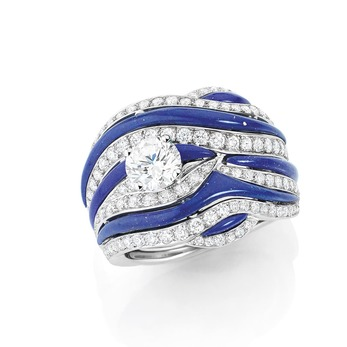 Кольцо 'Ondine' с бриллиантами и лазуритом
