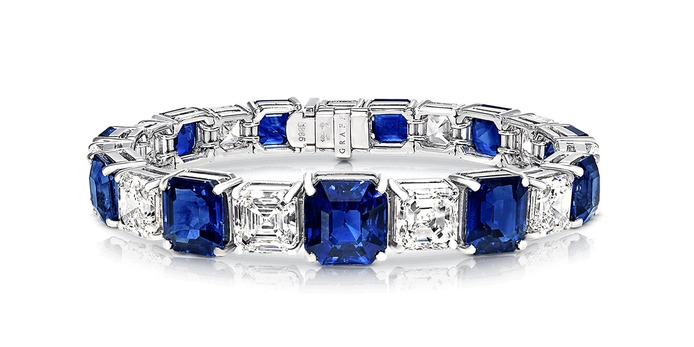 Bracelet with 35.54 cts of sapphires and diamonds