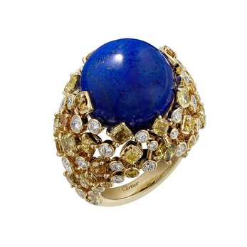 'Magnitude' collection ring with lapis lazuli and diamonds