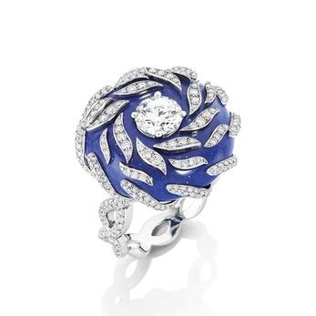 Кольцо 'Onda' с лазуритом и бриллиантами
