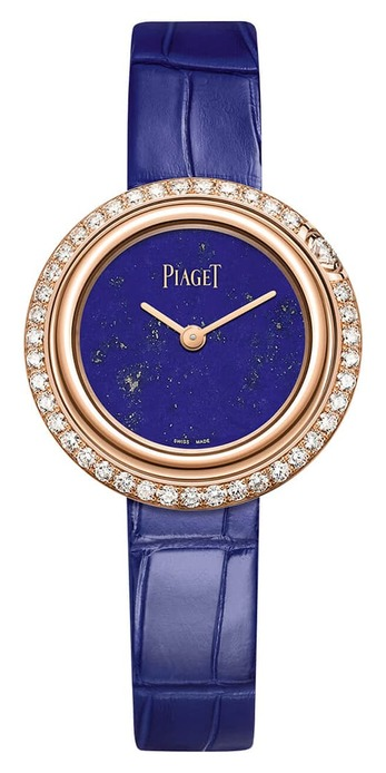 Possession watch with lapis lazuli dial and diamonds