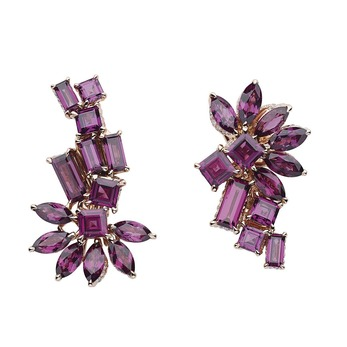 Gem Dior collection earrings with rhodolite garnets in yellow gold