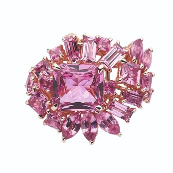 Gem Dior pink sapphire high jewellery ring