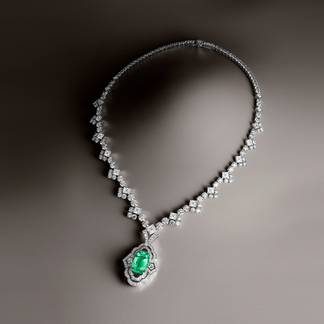 Louis Vuitton necklace with a tourmaline and diamonds from the Conquêtes collection