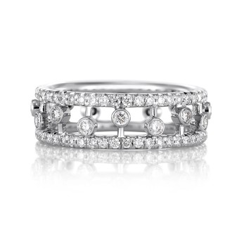 De Beers 'Dewdrop' ring with 0.95ct diamonds in 18k white gold