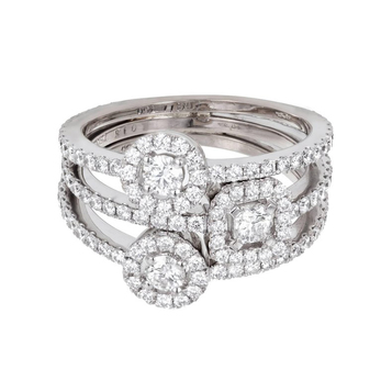 Hearts on Fire 'Repetoire' ring with 0.75ct diamonds in 18k white gold