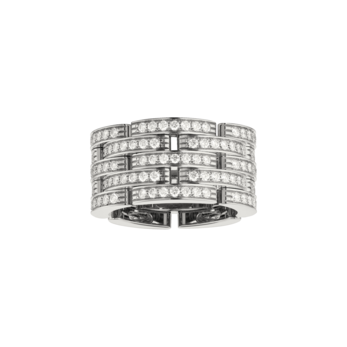 Cartier 'Maillon Panthère' ring, with 1.26ct diamonds in 18K white gold