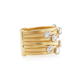 Marco Bicego 'Goa' ring with diamonds in 18k yellow gold