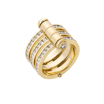 Stephen Webster in collaboration with Tracey Emin 'I promise to Love you' ring with diamonds and 18k gold
