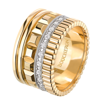 Boucheron 'Quatre' ring with diamonds and 18k yellow gold