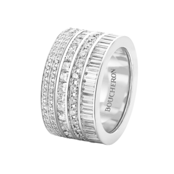 Boucheron 'Quatre' ring with diamonds in 18k white gold