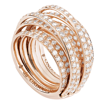 de Grisogono 'Allegra' ring with diamonds in 18k rose gold
