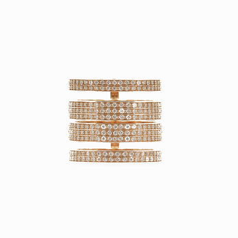 Repossi 'Berbère Module' ring with diamonds in 18k rose gold