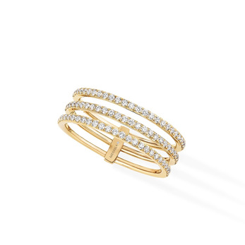 Messika 'Gatsby' ring with diamonds in 18k yellow gold