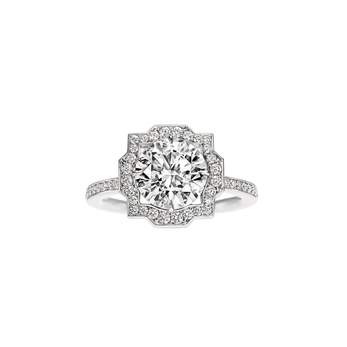 Harry Winston 'Belle' micropavé 2.50ct diamond ring in platinum