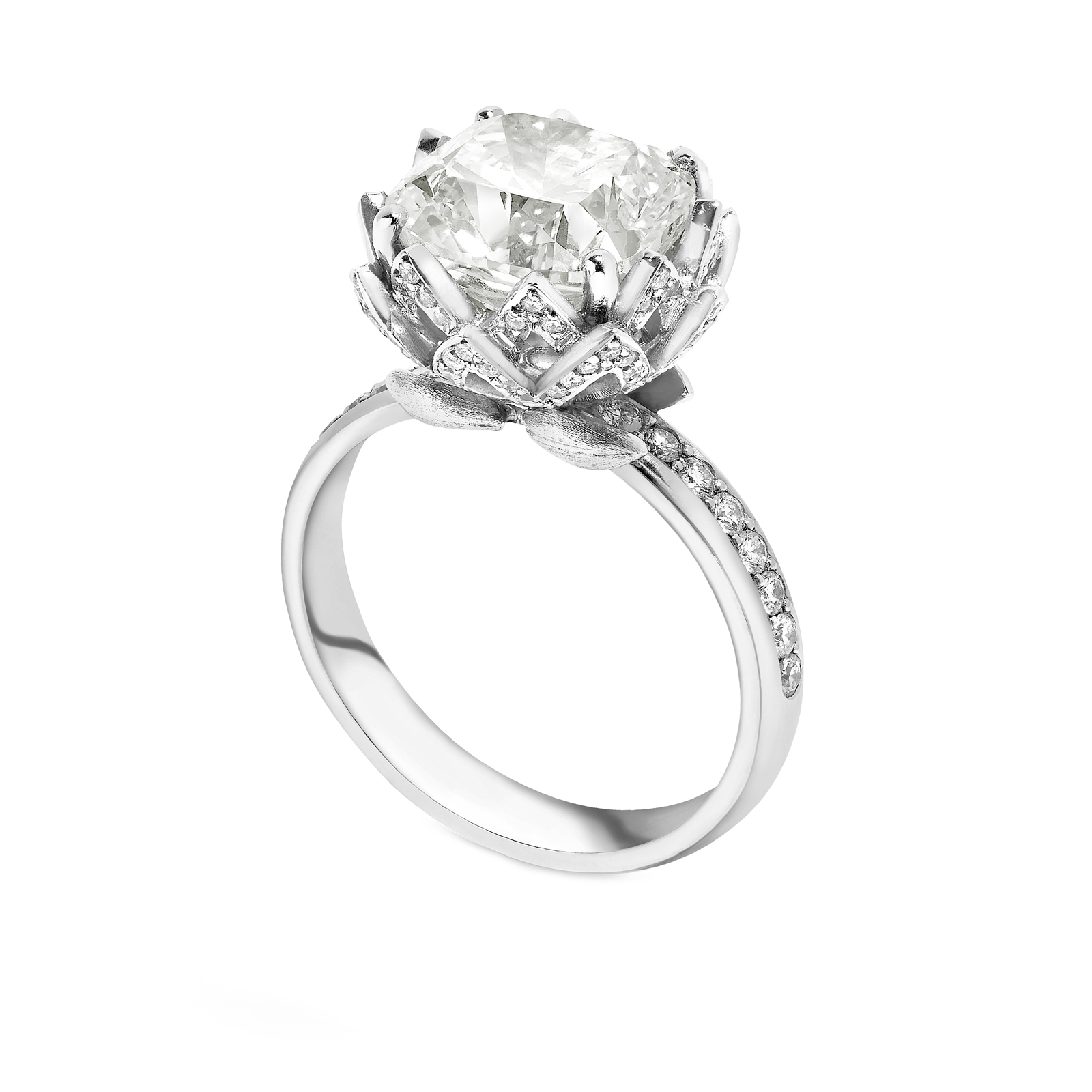 set in lily platinum sidestones h vs prong rings halo ring engagement carat g diamond purity