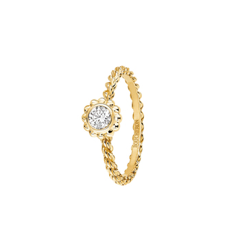 Boucheron 'Serpent Boheme' 0.20ct diamond solitaire ring in 18k yellow gold