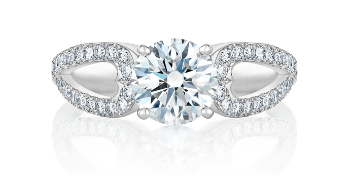 De Beers 'Infinity Heart' 1.25ct diamond ring with platinum setting