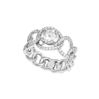 Lorenz Baumer 'Elipses' ring with 1.43ct diamond in platinum setting