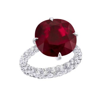 Boghossian les Mervielles ruby and diamond ring