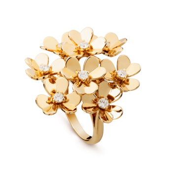 Van Cleef & Arpels 'Frivole' ring in yellow gold with diamonds