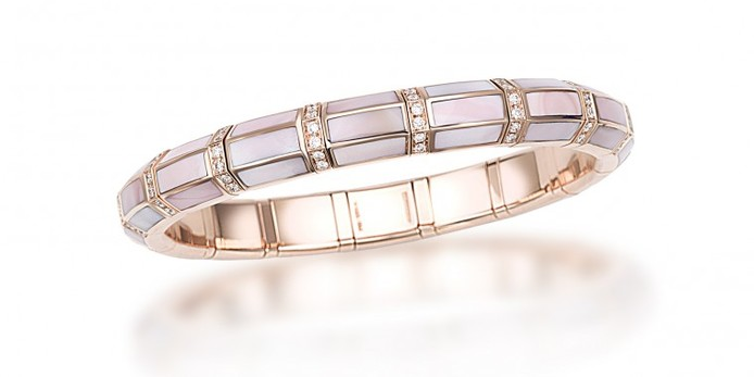 Picchiotti 'XpandableTM' bracelet with pink mother of pearl, diamonds  and 18k rose gold