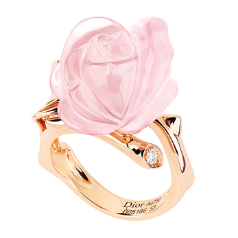 Dior 'Rose Pré Catelan' ring in pink quartz and 18k rose gold