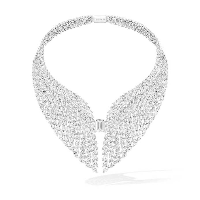 'The Bright Falcon' necklace in 487 marquise cuts and 1 emerald cut diamond totalling 98.59ct