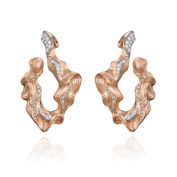 'Imperium' earrings with diamonds in 18k rose gold